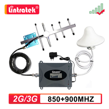 Lintratek 2G 3G 4G GSM 850 900mhz amplificador de señal celular teléfono celular UMTS LTE 900 repetidor amplificador de techo antena Set #9
