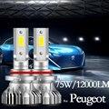 Для Peugeot 108 208 301 307 206 308 408 508 2008 3008 5008 партнер высокого луча ближнего света головной светильник лампы светодиодные противотуманные фары светил...