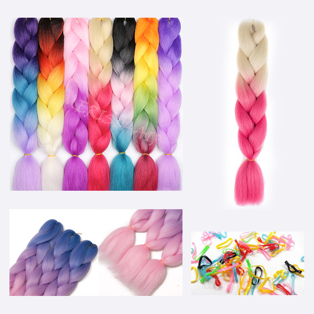 Synthetic Braiding Hair Extensions.
