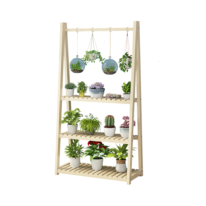 A Room Modern Simplicity Green Luo Hanging Basket To Ground Flowerpot More Meat Woodiness Flower Rack Balcony Multi-storey