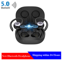 TWS Bluetooth Earbuds Wireless Headphones with Mic Sports Bluetooth Earphones 5.0 Ear Hook Running Noise Cancelling Headsets august ep725 wireless sweatproof sports earphones for gym running active noise cancelling bluetooth headphones headsets with mic