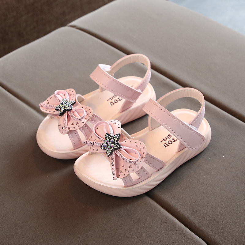 Summer Children Toddler baby Girls Sandals Princess Shoes For Little Girls School Student Bow Beach New 2020 2 3 4 5 6 Years old