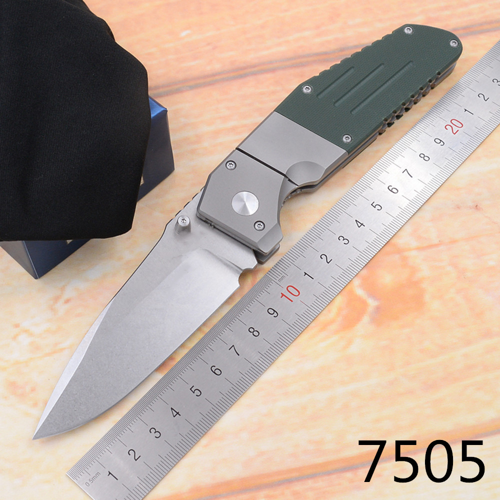 JUFULE New 7505 Titanium G10 handle D2 Mark M390 Blade folding Pocket Survival EDC Tool hunting Utility outdoor camping <font><b>knife</b></font> image