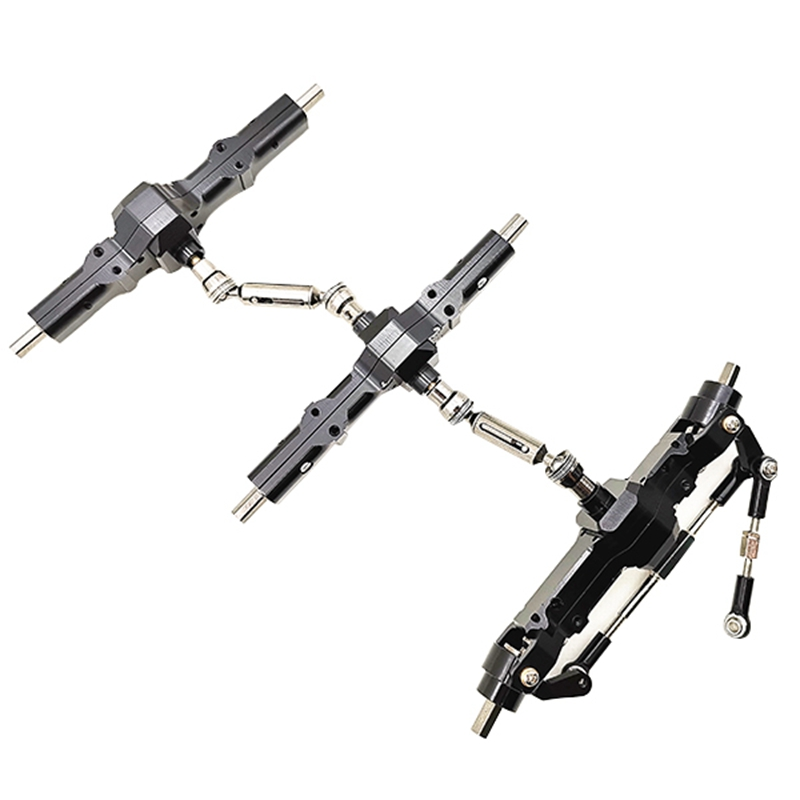Front + Center +Rear Axle Assembly for WPL 1/16 B36 B36K B16 B16K RC Car Fitting|Parts & Accessories| |  - title=