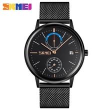 2020 SKMEI Top Brand Luxury Men Quartz Watch Calendar Clock Compass Sport Watches Waterproof Male Wristwatch Montre homme 9182