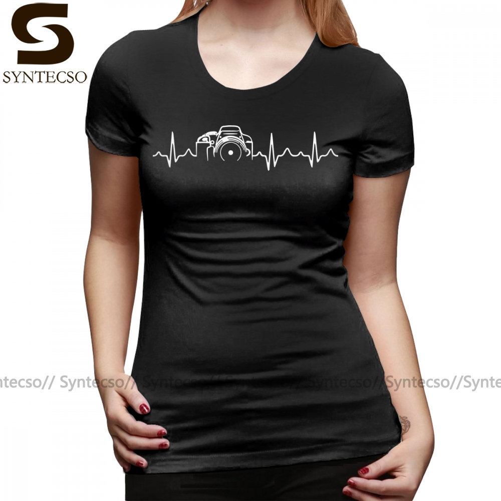 Womens Photographer Gift Tee Photography T-Shirt Camera ladies V-Neck top