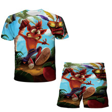 Ccrash Bandicoot 3d Children's Suit Summer Clothes 2021T-Shirt Boys Clothes Toddler Youth Girls Outfit Clothing Short Tops Hot