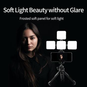 TELESIN Mini RGB LED Video Light 2000mAh Portable Pocket Photographic Lighting Vlog Fill Light Smartphone DSLR SLR Lamp 8