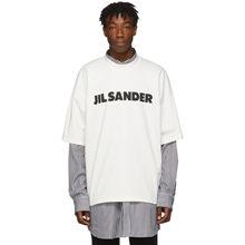 Novo clássico high street 1:1 jil sander marca masculina camiseta preto carta superior manga curta hip hop de grandes dimensões solto algodão t