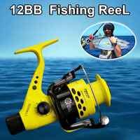 CTR2000-7000 12BB 5.5: 1 Bobina di Pesca Pieghevole Sinistra Mano Destra Bilanciere Leggero Frizione Posteriore di Plastica di Pesce Filatura Ruote di Nuovo