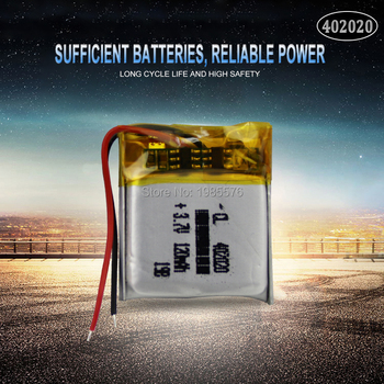 3.7v 120mAh 402020 Lithium Polymer Li-Po Rechargeable Battery For toys GPS MP3 MP4 PAD DVD DIY bluetooth headphone speaker phone image