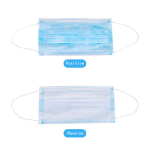 Image 2 - IN STOCK 2 500pcs Disposable Mouth Mask 3 Layers Anti Bacterial Dust Breathable Cloth Facial Safety Protective Cover Face Masks