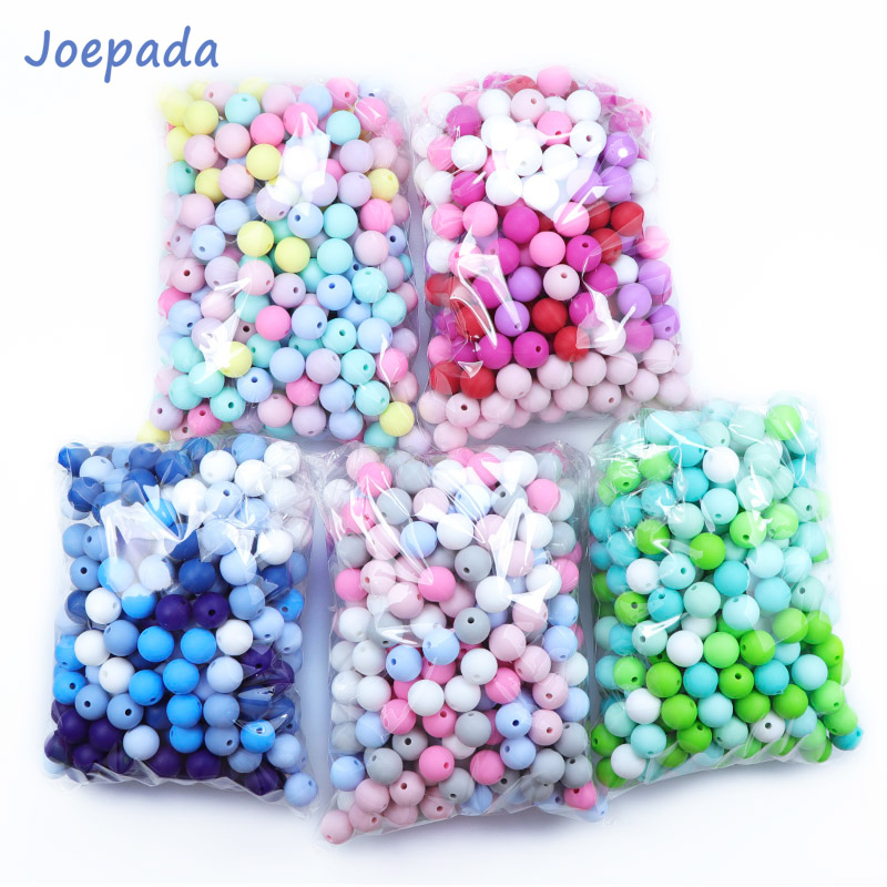 Round Teething Necklace Joepeada Food-Grade Diy Baby Silicone 12mm Rodents for 300pcs/Lots