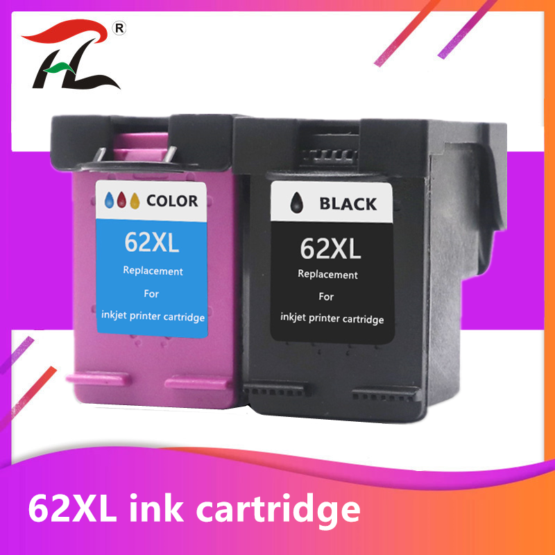 YLC Ink Cartridge 62XL Compatible For Hp 62 Xl For Hp62 For HP Envy 5540 5640 7640 5646 5541 5740 5742 5745 200 250 Printer
