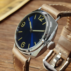 Image 3 - San Martin Stainless Steel Fashion Simple Automatic Mens Mechanical Watch Holvin Leather Strap Relojes 200M Water Resistant