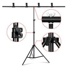 Fotografia em forma de t fundo suporte quadro sistema de suporte para estúdio de fotografia chroma chave de vídeo tela verde com suporte