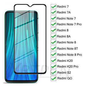 9H 9D Protective Glass For Xiaomi Redmi 7 7A 8 8A K20 S2 GO Redmi Note 7 8 Pro 8T Screen Protector Safety Tempered Glass Film