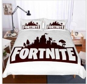 Fort game gêmeo rei rainha duplo completo colcha fronha capa de edredão set conjunto de cama