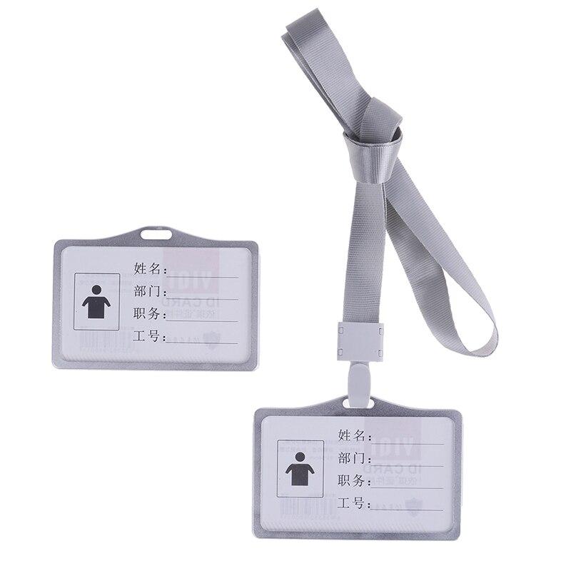 1 шт., алюминиевый сплав, рабочие визитницы, визитница, визитная карточка, ID значок, ремешок-держатель, хит, вертикальный металлический, ID, деловой чехол
