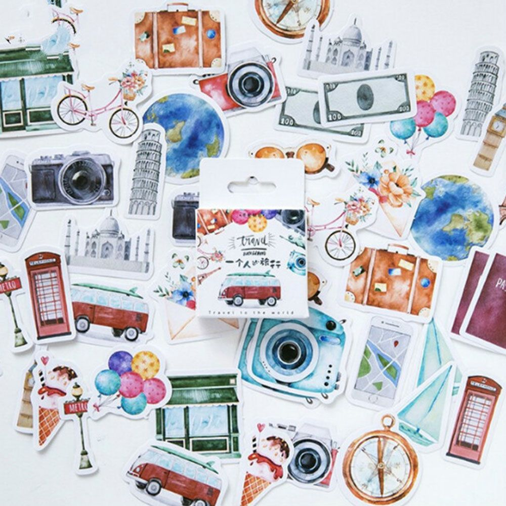 45Pcs Collection Memo Stickers Diary Stickers Package Posted It Kawaii Scrapbooking Planner Stationery Escolar School Supplies
