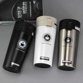 HOT Premium Travel Coffee Mug Stainless Steel Thermos Tumbler Cups Vacuum Flask thermo Water Bottle Tea Thermocup - discount item  48% OFF Kitchen,Dining & Bar