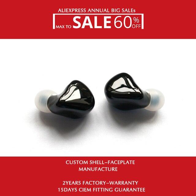 Hisenior auriculares internos Hifi con Monitor personalizado, controlador de armadura equilibrada B5 10 knoples, 8 núcleos, Cable desmontable actualizado OCC