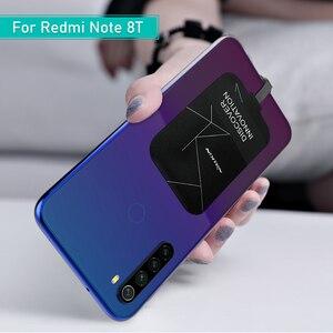 Image 2 - Redmi Note 8T Sạc Không Dây Chuẩn QI Sạc USB Loại C Đầu Thu Miếng Dán Túi An Toàn Không Dây Sạc Cho Xiaomi Redmi note 8T Pro