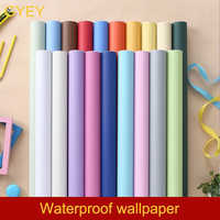 Solid Color PVC Waterproof Self adhesive Wallpaper 1m for Living Room Kids Bedroom Decor Vinyl Contact Paper for Kitchen Cabinet