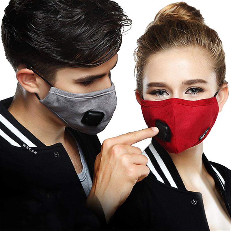 Prostormer Fashion Dust-proof Cotton Women&men Anti PM2.5 Mask Haze Activated Carbon Filter Windproof Breather Valve Mask19