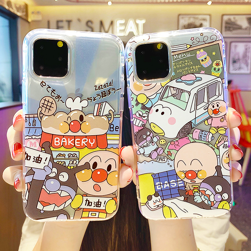 Cartoon Cute Japan <font><b>Anpanman</b></font> Transparent <font><b>Case</b></font> For <font><b>iPhone</b></font> 11 Pro Max Silicone Cover Luxury Thin Soft Shell TUP Glossy Phone <font><b>Cases</b></font> image
