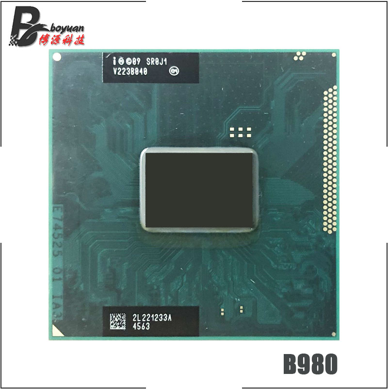 Intel pentium b980 sr0j1 2.4 ghz processador cpu duplo-núcleo 2 m 35 w soquete g2/rpga988b