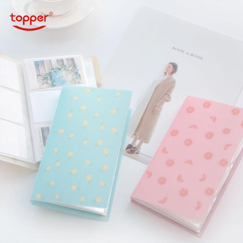 1pc 96 Slots ID Holders Cute Cartoon Card Book Star Large Capacity Business Card Clip Ticket Collection Book Card Free Shiping