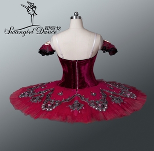 Image 4 - Menina de mulberry swan lago ballet trajes vermelho tutu ballet adulto profissional tutu ballet trajes performance bt8992