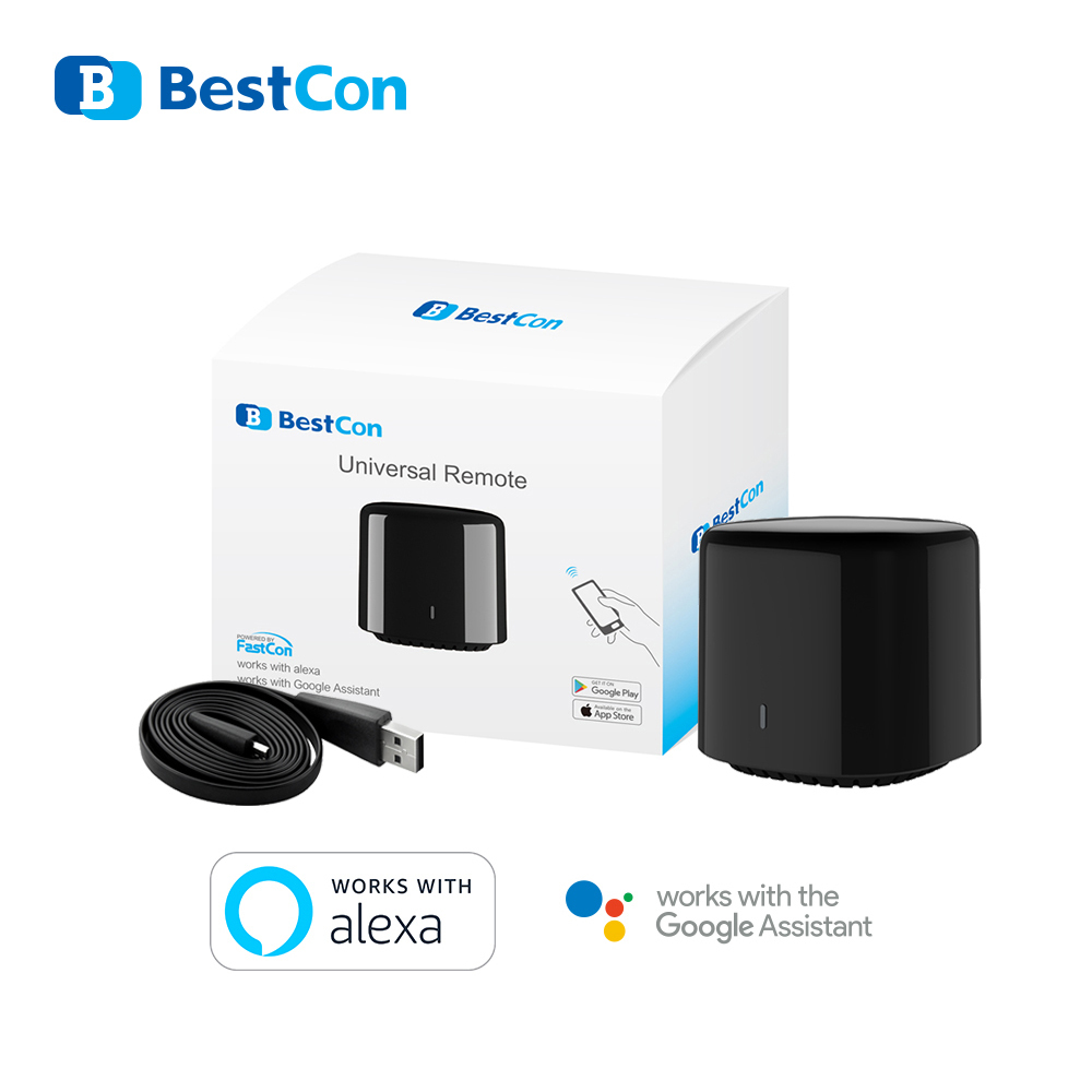 2020 Broadlink RM4 Mini Bestcon RM4C Mini Universal 3G 4G Wifi IR Mini Remote Control Compatible Alexa Google Assistant For A/C