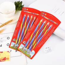 4 pcs/lot(bag) Cute 4 Color Concentric Rainbow Pencil for Student Children's Painting Graffiti Drawing Gift Art School Supplies(China)