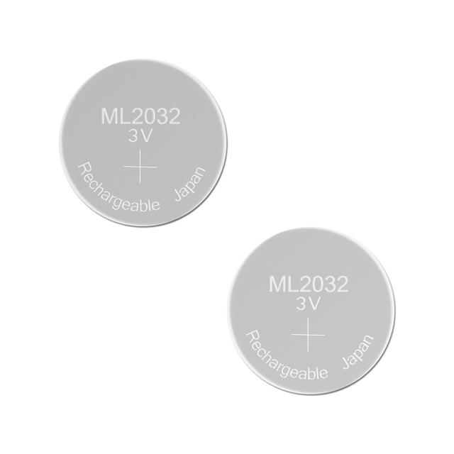 Rechargeable Battery ML2032 3V 2PCS Lithium Button Built-in Coin Cell Batteries 2032 Replace CR2032 CMOS BIOS RTC Backup Reserve 1