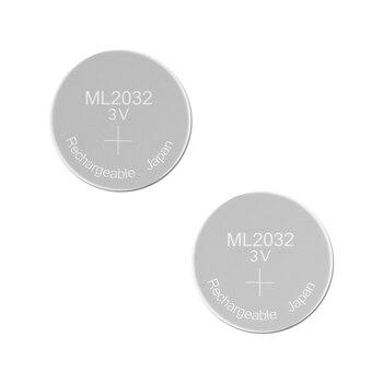 Перезаряжаемая батарея ML2032 3V 2 шт литиевые кнопки Встроенные батареи для монет 2032 Замена CR2032 CMOS BIOS RTC резервный резерв