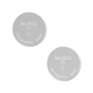 Image 1 - แบตเตอรี่ชาร์จ ML2032 3V 2PCS แบตเตอรี่ลิเธียม Built in เหรียญแบตเตอรี่ 2032 เปลี่ยน CR2032 CMOS BIOS RTC สำรองสำรอง