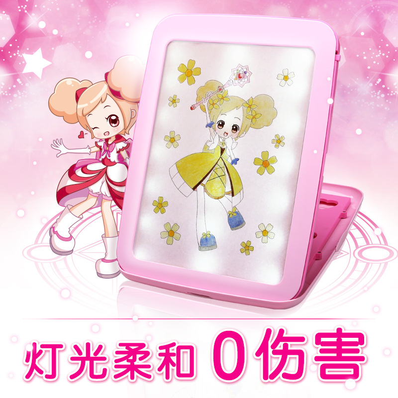 Toys Small Fairy Graphics Tablet Children Creative DIY Drawing Board Early Childhood Educational Painting Toy 3-9-Year-Old A035