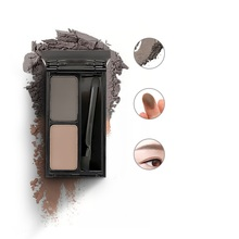 Eyebrow Powder Natural Double Color Waterproof Stereo Long Lasting Eyebrow Makeup Palette EyeBrows Beauty Kit Build-in Brush