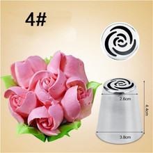 Bakeware-Tool Russian Tulip Piping-Nozzle Cake-Decoration Rose-Flower Icing Stainless-Steel