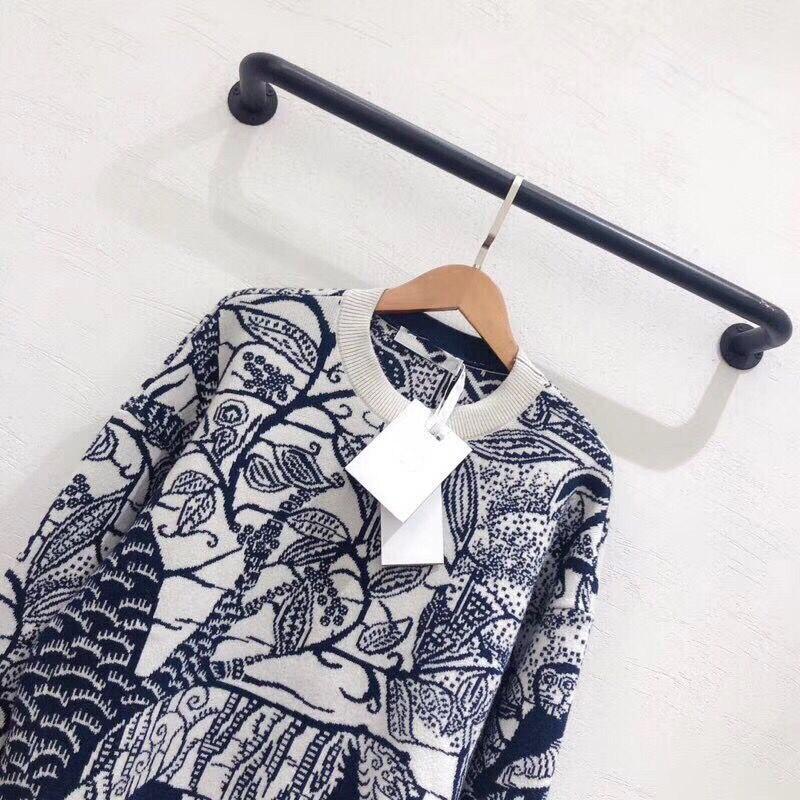 LINGHAN primavera sketch modello delicato ricamo fascia cachemire mescolato maglione di alta qualità casuale a maniche lunghe maglione - 3