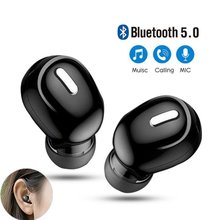 سماعات بلوتوث لاسلكية صغيرة 5.0 داخل الأذن رياضية مع ميكروفون يدوي سماعة أذن لهواتف سامسونج هواوي جميع سماعات الهاتف
