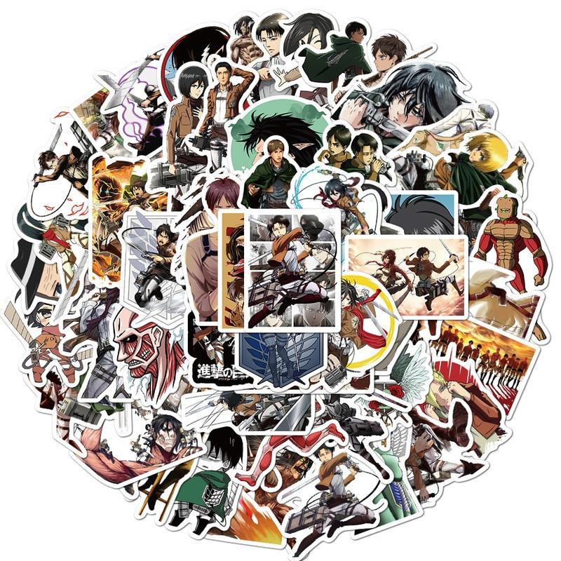 Attack on Titan Shingeki no Kyojin Stickers 10/50/100Pcs 5