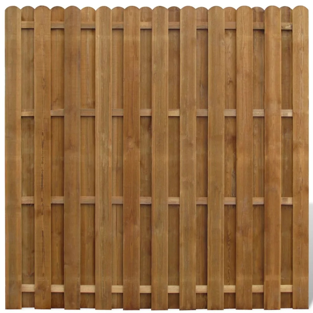 VidaXL Rot-Resistant Hit &Amp;Amp; Miss Fence Panel FSC Wood Vertical 180 X 180 Cm (L X H) V3