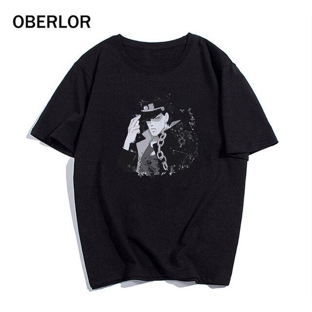 2020 T Shirt Cool JoJo Bizarre Adventure Graphic Print Tee Homme Japanese Anime Style Tshirt Plus Size Soft Tops T-Shirt Men 2