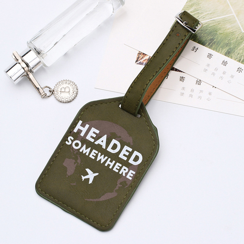 Fashion Airplane Luggage Tags Portable Travel Accessories PU Leather Suitcase ID Address Holder Women Baggage Boarding Label