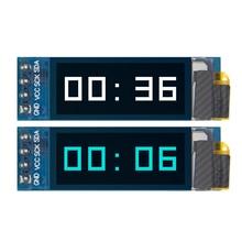 "10pcs 0.91 นิ้ว OLED โมดูล 0.91 ""OLED 128X32 OLED LCD โมดูลจอแสดงผล LED 0.91"" IIC สื่อสาร D24"