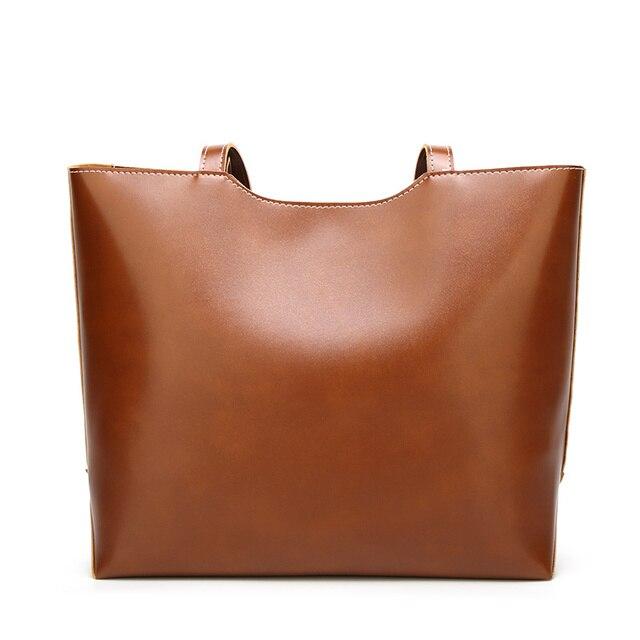 100% Genuine leather Women handbags  New Women's Korean version of big sweet fashion soft bag slung one shoulder 4
