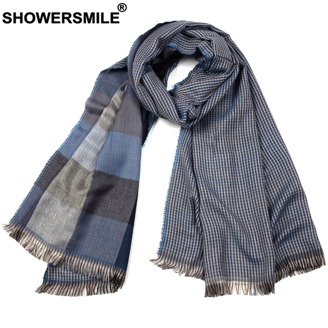 Plaid Men's, Double-Sided, British Style Scarf